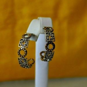 John Hardy Knot Lava Large Hoop Earrings